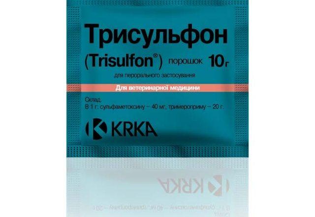 Prepararea trisulfonului pentru tratamentul bolilor la iepuri